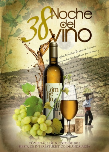 The winning poster for the 38th Noche del Vino fiesta