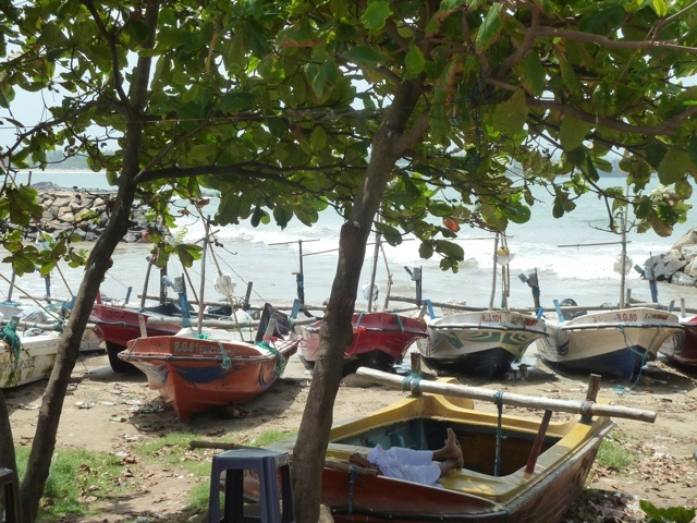 Fishing boats in Galle, south west Sri Lanka