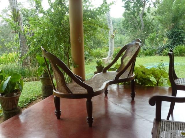 The cool veranda where we sip tea