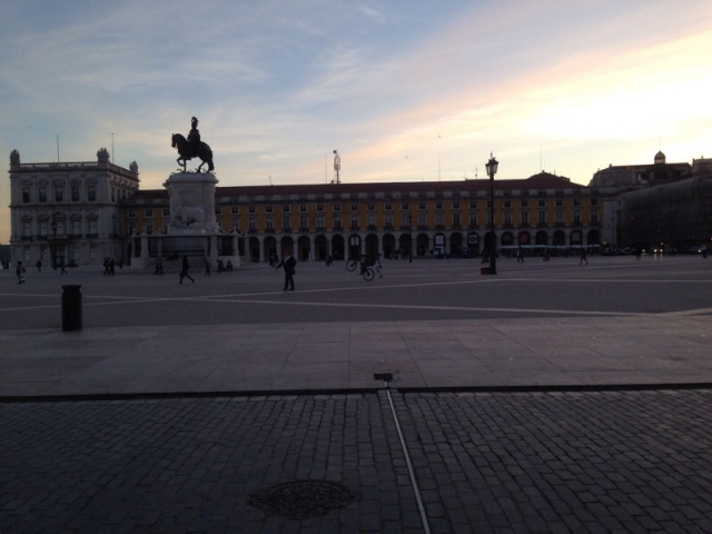 Dusk at Rossio Square