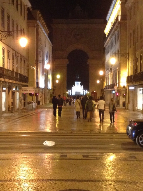Through the Triumphal  Arch towards Rossio Square