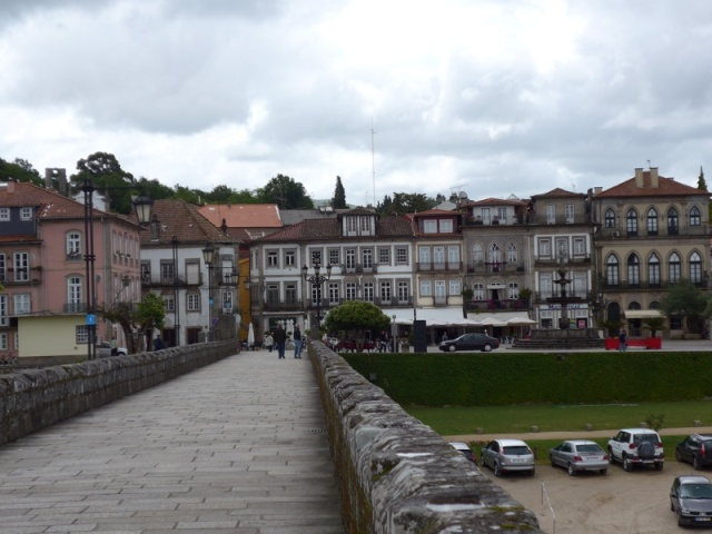 looking back towards the town from the Ponte de Lima bridge