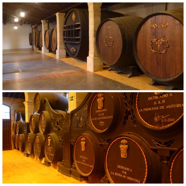 Barrels dedicated to Jesus and his apostles, and also to the Spanish Royal family