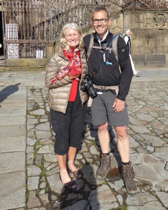 A wonderful surprise meeting with Peter, from the Netherlands, with whom I walked the first week of my first camino in 2013